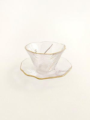 Gold Brush Teacup Set